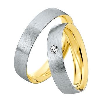 Trauring Saint Maurice Gold Weißgold Diamant
